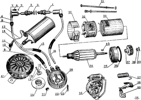 alternator parts diagram