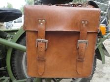 leather pannier for dnepr ural cj750