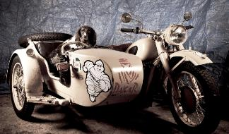 sidecar dog cj750 bella dakar